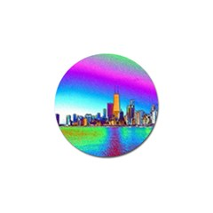 Chicago Colored Foil Effects Golf Ball Marker (4 Pack)