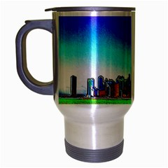 Chicago Colored Foil Effects Travel Mug (Silver Gray)