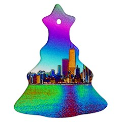 Chicago Colored Foil Effects Ornament (christmas Tree)
