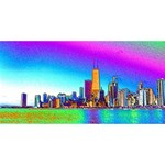 Chicago Colored Foil Effects #1 DAD 3D Greeting Card (8x4)  Back