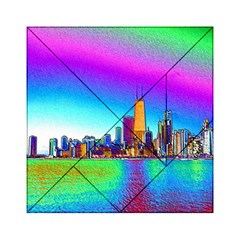 Chicago Colored Foil Effects Acrylic Tangram Puzzle (6  X 6 )