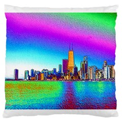 Chicago Colored Foil Effects Large Cushion Cases (One Side)