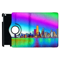 Chicago Colored Foil Effects Apple Ipad 2 Flip 360 Case