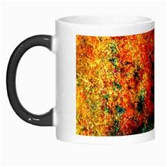 Orange Blue Background Morph Mugs