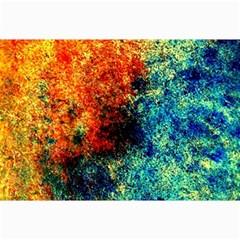 Orange Blue Background Collage 12  X 18