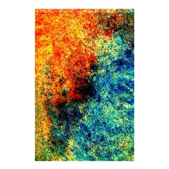 Orange Blue Background Shower Curtain 48  X 72  (small)