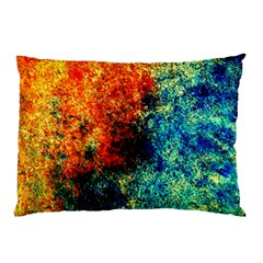 Orange Blue Background Pillow Cases (Two Sides)