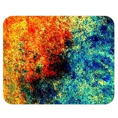 Orange Blue Background Double Sided Flano Blanket (Medium)