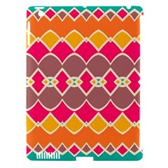 Symmetric shapes in retro colorsApple iPad 3/4 Hardshell Case (Compatible with Smart Cover)