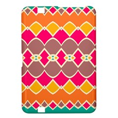 Symmetric shapes in retro colors			Kindle Fire HD 8.9  Hardshell Case