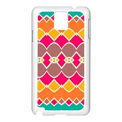 Symmetric shapes in retro colors			Samsung Galaxy Note 3 N9005 Case (White)