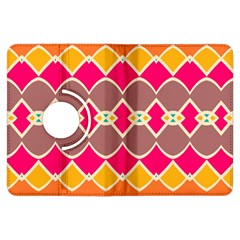 Symmetric shapes in retro colorsKindle Fire HDX Flip 360 Case