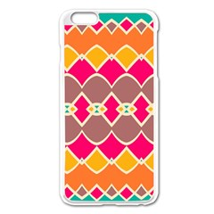 Symmetric shapes in retro colors			Apple iPhone 6 Plus/6S Plus Enamel White Case