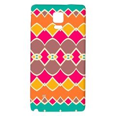 Symmetric shapes in retro colors			Samsung Note 4 Hardshell Back Case