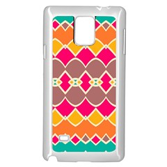 Symmetric Shapes In Retro Colorssamsung Galaxy Note 4 Case (white)