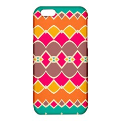 Symmetric shapes in retro colors			iPhone 6/6S TPU Case