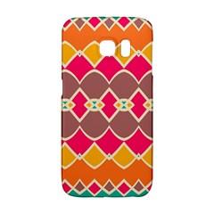 Symmetric shapes in retro colorsSamsung Galaxy S6 Edge Hardshell Case