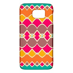 Symmetric Shapes In Retro Colorssamsung Galaxy S6 Hardshell Case