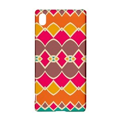 Symmetric shapes in retro colors			Sony Xperia Z3+ Hardshell Case