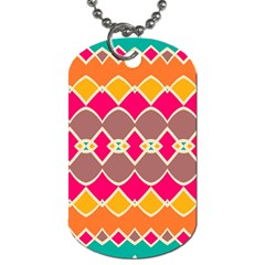 Symmetric shapes in retro colors			Dog Tag (One Side)