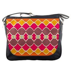 Symmetric shapes in retro colorsMessenger Bag