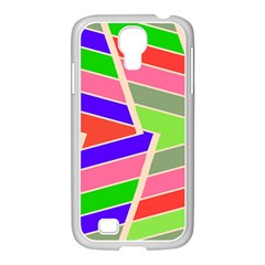 Symmetric distorted rectanglesSamsung GALAXY S4 I9500/ I9505 Case (White)