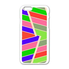 Symmetric Distorted Rectangles			apple Iphone 6/6s White Enamel Case