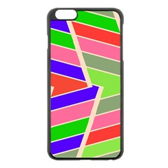 Symmetric Distorted Rectangles			apple Iphone 6 Plus/6s Plus Black Enamel Case