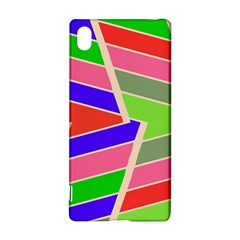 Symmetric distorted rectangles			Sony Xperia Z3+ Hardshell Case