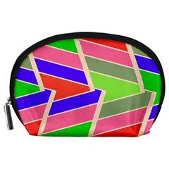 Symmetric distorted rectangles Accessory Pouch