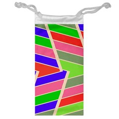 Symmetric distorted rectangles Jewelry Bag