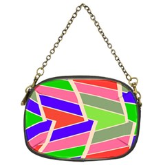 Symmetric distorted rectangles Chain Purse (Two Sides)