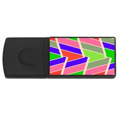 Symmetric distorted rectangles			USB Flash Drive Rectangular (2 GB)