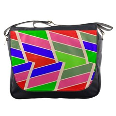 Symmetric distorted rectanglesMessenger Bag