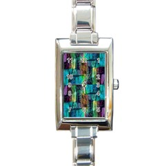 Abstract Square Wall Rectangle Italian Charm Watches