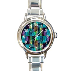Abstract Square Wall Round Italian Charm Watches