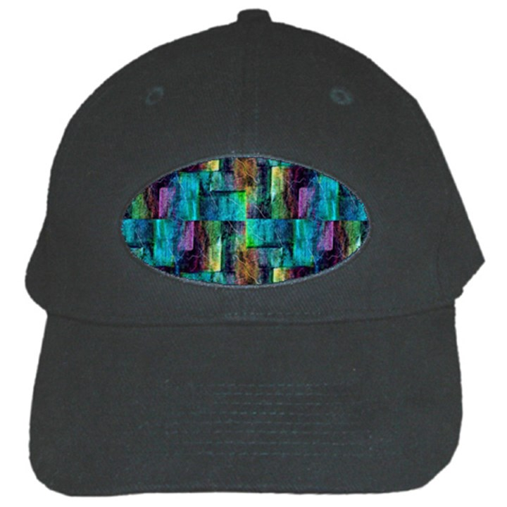 Abstract Square Wall Black Cap
