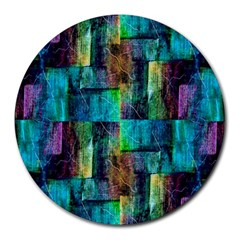 Abstract Square Wall Round Mousepads