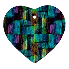Abstract Square Wall Ornament (heart)