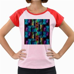 Abstract Square Wall Women s Cap Sleeve T-Shirt