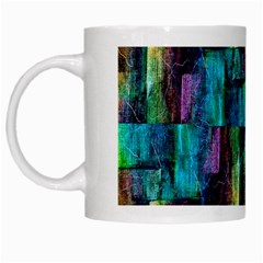 Abstract Square Wall White Mugs