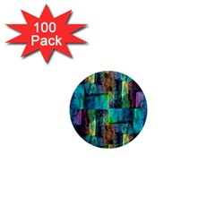 Abstract Square Wall 1  Mini Magnets (100 Pack)