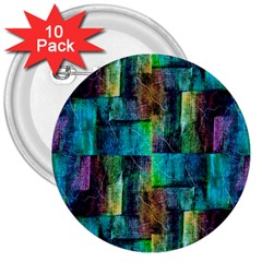 Abstract Square Wall 3  Buttons (10 Pack)
