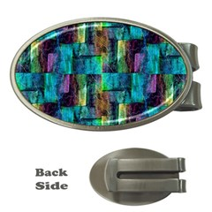 Abstract Square Wall Money Clips (oval)