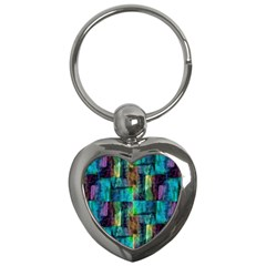 Abstract Square Wall Key Chains (heart)