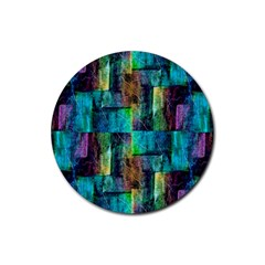 Abstract Square Wall Rubber Round Coaster (4 Pack)