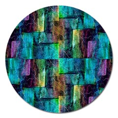 Abstract Square Wall Magnet 5  (round)