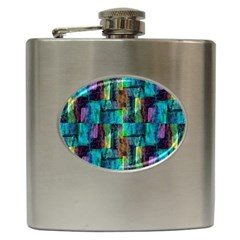 Abstract Square Wall Hip Flask (6 Oz)
