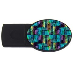 Abstract Square Wall Usb Flash Drive Oval (2 Gb)
