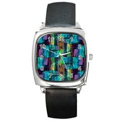 Abstract Square Wall Square Metal Watches